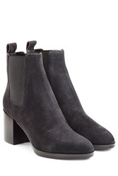 Sergio Rossi Suede Ankle Boots Grey