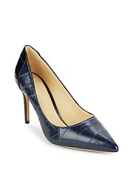Alexandre Birman Leather Point Toe Pumps Petrol