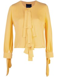 Cynthia Rowley Tennessee Tie Front Top Yellow