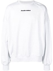 Juun.J Rear Print Sweatshirt Grey