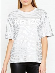 Kenzo Metallic Tiger Stripe T Shirt White