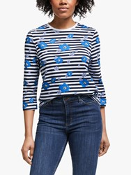 John Lewis Collection Weekend By Darcie Floral Stripe T Shirt Multi