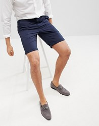 Solid Slim Fit Chino Short In Navy Navy
