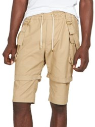 Balmain D Ring Strap Doubled Shorts Beige