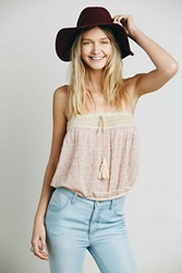 Free People Embroidered Crop Tube