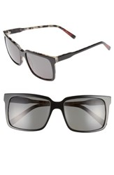 Ed Ellen Degeneres Women's 56Mm Gradient Square Sunglasses Black Tortoise