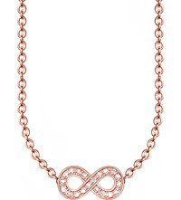 Thomas Sabo Glam And Soul Infinity 18Ct Rose Gold Plated Diamond Necklace