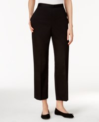 Alfred Dunner Petite City Life Pull On Pants Black