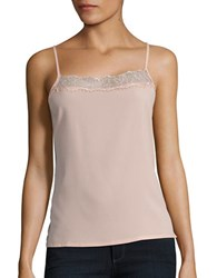 French Connection Lace Trim Camisole Pink