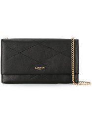 Lanvin Small Quilted Shoulder Bag Black