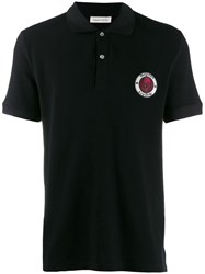 Alexander Mcqueen Logo Patch Polo Shirt Black