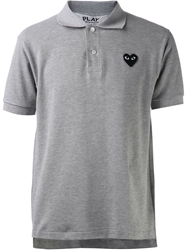 Comme Des Garcons Play Classic Polo Shirt Grey