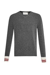 French Connection Men's Varsity Jive Knits Sweater Charcoal