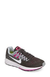 Nike Women's Air Zoom Structure 20 Running Shoe Anthracite White Grey Pink