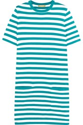 Michael Kors Striped Cotton Jersey Mini Dress