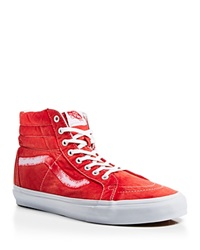 Vans Sk8 Hi Reissue Ca Vintage Sunfade Sneakers True Red