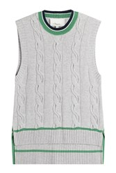 3.1 Phillip Lim Knitted Vest With Wool And Cashmere Grey