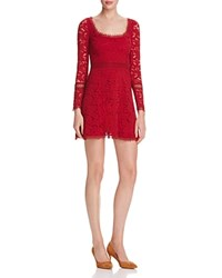 N Nicholas Lace Fit And Flare Dress 100 Bloomingdale's Exclusive Maroon