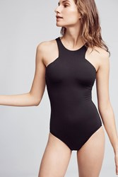 Anthropologie Seafolly Active High Neck One Piece Black