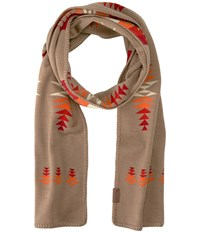 Pendleton Knit Muffler Tucson Khaki Scarves Brown