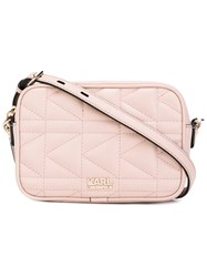 Karl Lagerfeld Quartz Crossbody Bag Women Leather One Size Pink Purple