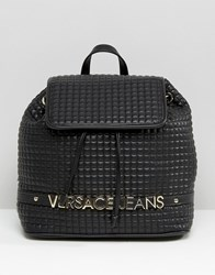 Versace Jeans Backpack With Gold Letters Black E899