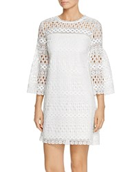 Laundry By Shelli Segal Lace Bell Sleeve Dress White