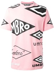House Of Holland Umbro Print T Shirt Pink Purple