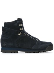Armani Jeans Lace Up Boots Blue