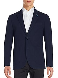 Tailorbyrd Chirico Stretch Fabric Blazer Navy