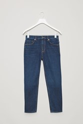 Cos Cropped Slim Fit Jeans Blue