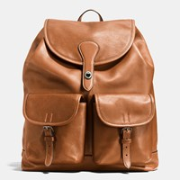 Coach Rucksack In Sport Calf Leather Black Antique Nickel Saddle