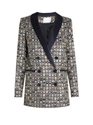 Racil Aquila Circle Jacquard Double Breasted Jacket Silver Multi