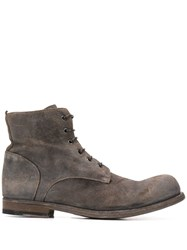 Officine Creative Bubble Lace Up Ankle Boots 60