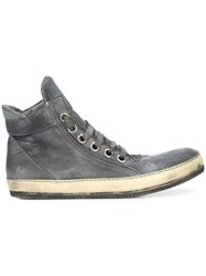 A Diciannoveventitre Casual Hi Top Sneakers Horse Leather Grey