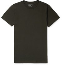 Rrl Logo Embroidered Cotton Jersey T Shirt Black