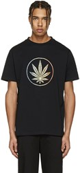 Palm Angels Black Rainbow Weed T Shirt