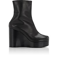 Maison Martin Margiela Women's Split Toe Platform Wedge Boots Black Blue Black Blue