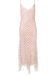 Amen Sequinned Dress Pink And Purple