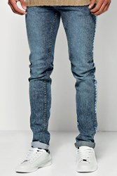 Boohoo Mid Blue Acid Wash Jeans Blue