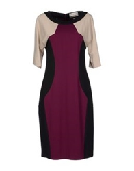 Mine Knee Length Dresses Deep Purple