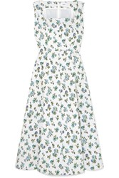 Erdem Polly Floral Jacquard Midi Dress White