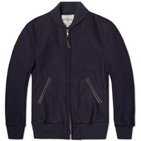 Golden Bear Sportswear Melton Wool Shawl Collar Varsity Jacket Navy
