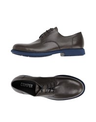 Camper Lace Up Shoes Steel Grey