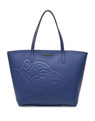 Braccialini Ninfea Leather Shopper Tote Bag Blue