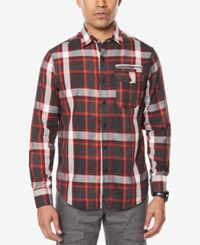 Sean John Men's Plaid Shirt Dark Heather