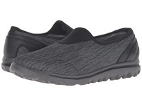 Propet Travelactiv Slip On Black Grey Heather Women's Slip On Shoes Gray