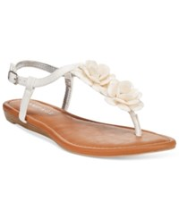 Rampage Dandylion Flat Sandals Women's Shoes White