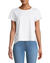Philosophy Lace Side Crewneck Tee Ivory