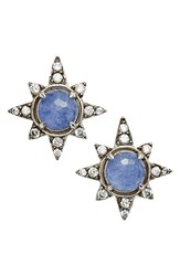 Nadri Women's Holiday Star Stud Earrings Light Sodalite Silver